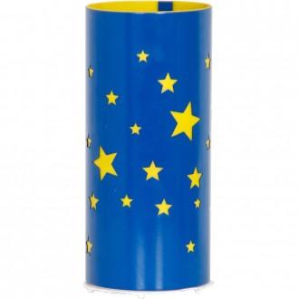 ALDEX 710B/11 | Gwiazdy Aldex stolna svjetiljka 22,5cm s prekidačem 1x E14 plavo, žuto