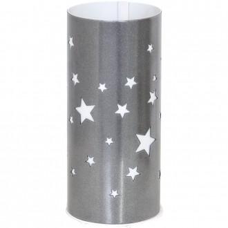 ALDEX 710B/3 | Gwiazdy Aldex stolna svjetiljka 22,5cm s prekidačem 1x E14 srebrno, bijelo