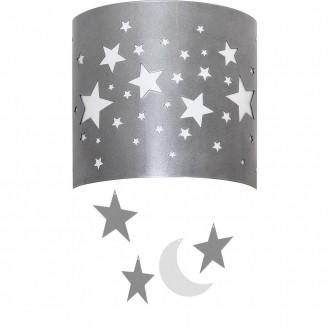 ALDEX 710C/3 | Gwiazdy Aldex zidna svjetiljka 1x E14 srebrno, bijelo