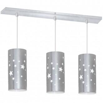 ALDEX 710E/3 | Gwiazdy Aldex visilice svjetiljka 3x E14 srebrno, bijelo