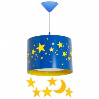ALDEX 710G/11/D | Gwiazdy Aldex visilice svjetiljka 1x E14 plavo, žuto, bijelo