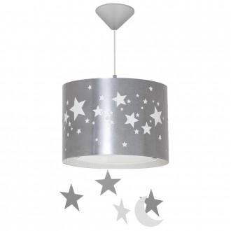 ALDEX 710G/3/D | Gwiazdy Aldex visilice svjetiljka 1x E14 srebrno, bijelo