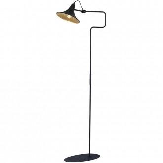 ALDEX 771A1/1 | Antika Aldex podna svjetiljka 143cm s prekidačem elementi koji se mogu okretati 1x E27 crno, zlatno