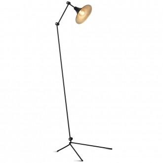 ALDEX 771A1 | Antika Aldex podna svjetiljka 143cm s prekidačem elementi koji se mogu okretati 1x E27 crno, zlatno