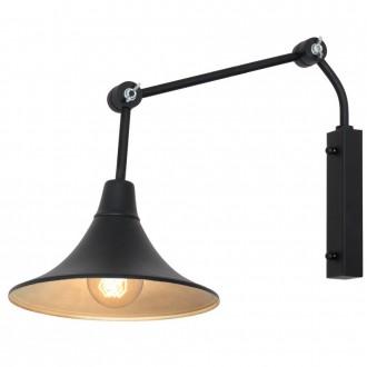 ALDEX 771C1/1 | Antika Aldex zidna svjetiljka elementi koji se mogu okretati 1x E27 crno, zlatno