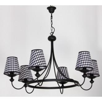 ALDEX 798K/1 | Guarda Aldex luster svjetiljka 6x E14 crno, bijelo
