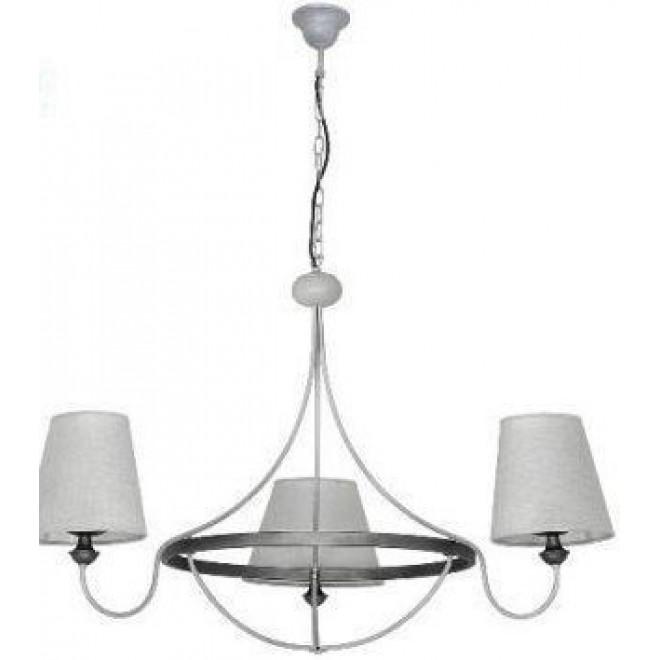 ALDEX 800E/21 | Barras Aldex luster svjetiljka 3x E14 sivo, grafit