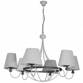 ALDEX 800K/21 | Barras Aldex luster svjetiljka 6x E14 sivo, grafit