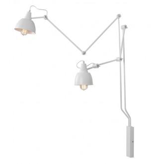 ALDEX 814D | Aida-Bibi Aldex zidna svjetiljka elementi koji se mogu okretati 2x E27 bijelo
