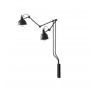 ALDEX 814D19 | Aida-Bibi Aldex zidna svjetiljka elementi koji se mogu okretati 2x E27 crno