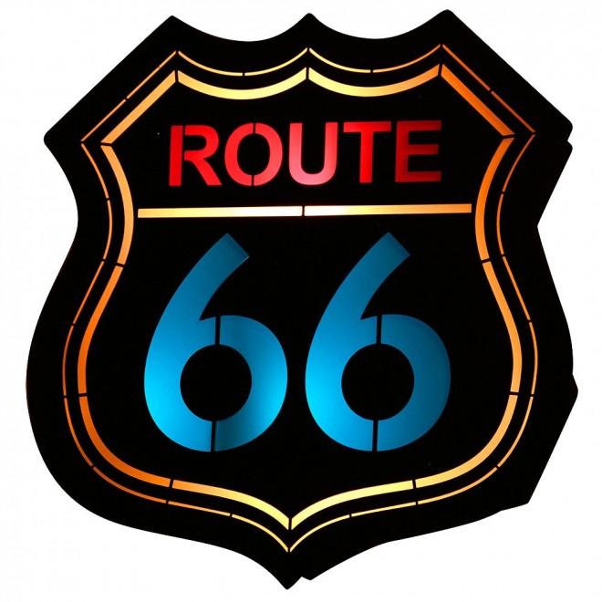ALDEX 821S2 | Route-66 Aldex zidna svjetiljka 1x E14 crno, višebojno