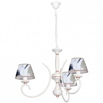 ALDEX 825E/A | Atut Aldex luster svjetiljka 3x E14 bijelo, crveni bakar, višebojno
