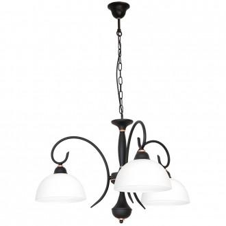 ALDEX 829E/1 | RenAl Aldex luster svjetiljka 3x E27 crno, bijelo, crveni bakar