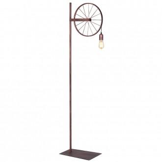 ALDEX 834A | Bang-Min Aldex podna svjetiljka 165cm s prekidačem 1x E27 antik crveni bakar, crno