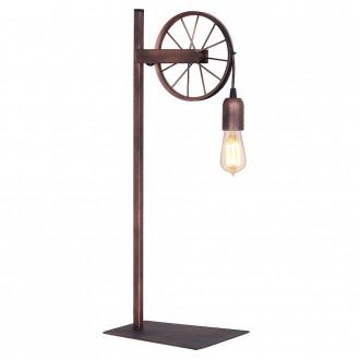 ALDEX 834B | Bang-Min Aldex stolna svjetiljka 66cm s prekidačem 1x E27 antik crveni bakar, crno