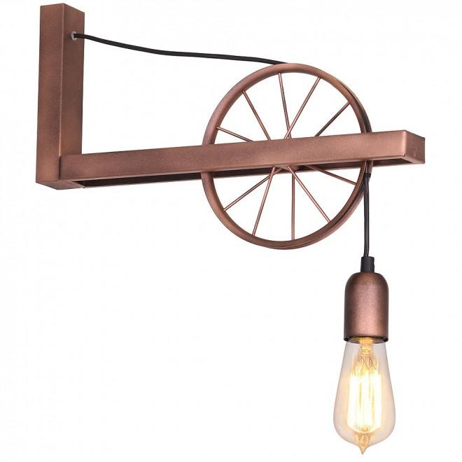 ALDEX 834C | Bang-Min Aldex zidna svjetiljka 1x E27 antik crveni bakar, crno