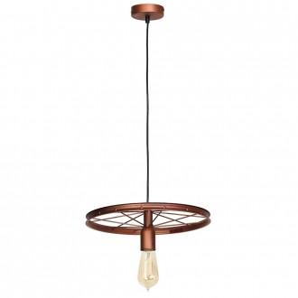 ALDEX 834G/K | Bang-Min Aldex visilice svjetiljka 1x E27 antik crveni bakar, crno