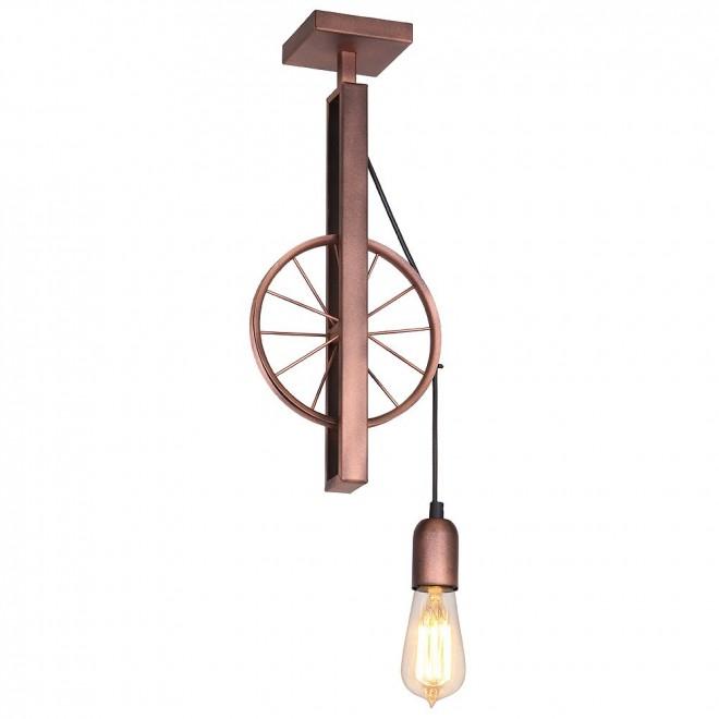 ALDEX 834G   Bang-Min Aldex stropne svjetiljke svjetiljka 1x E27 antik crveni bakar, crno