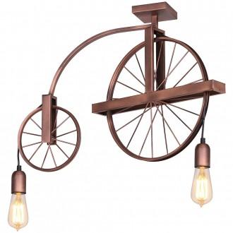 ALDEX 834H/D | Bang-Min Aldex stropne svjetiljke svjetiljka 2x E27 antik crveni bakar, crno