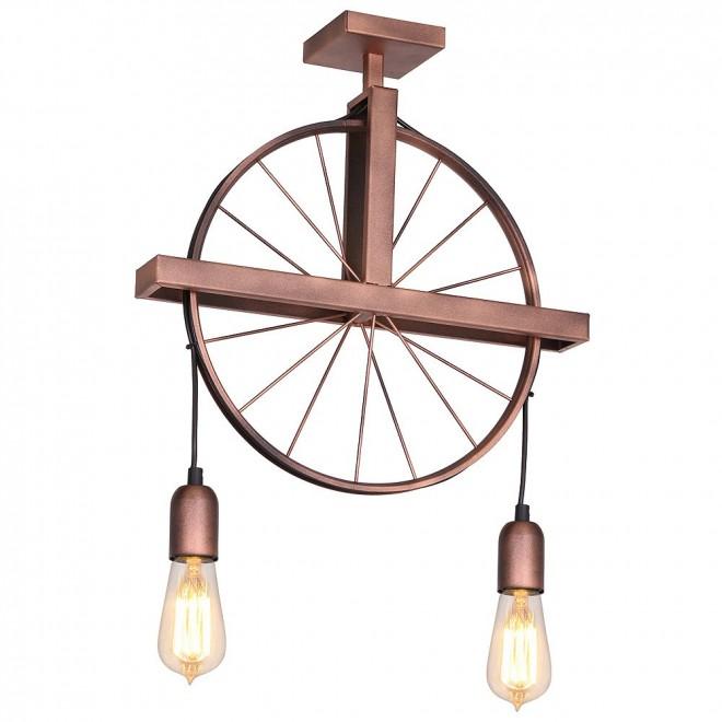 ALDEX 834H/D1 | Bang-Min Aldex stropne svjetiljke svjetiljka 2x E27 antik crveni bakar, crno