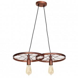 ALDEX 834H/K | Bang-Min Aldex visilice svjetiljka 2x E27 antik crveni bakar, crno