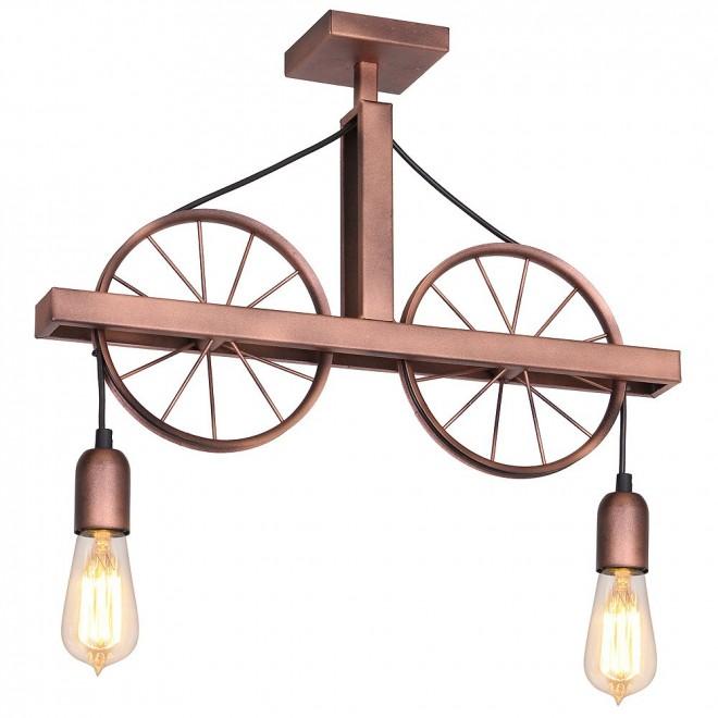 ALDEX 834H | Bang-Min Aldex stropne svjetiljke svjetiljka 2x E27 antik crveni bakar, crno