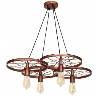 ALDEX 834L/K | Bang-Min Aldex visilice svjetiljka 4x E27 antik crveni bakar, crno