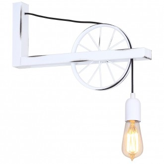 ALDEX 844C | Bang-Min Aldex zidna svjetiljka 1x E27 antik bijela, crno