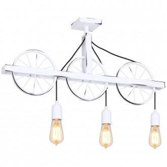 ALDEX 844E | Bang-Min Aldex stropne svjetiljke svjetiljka 3x E27 antik bijela, crno