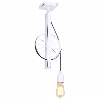 ALDEX 844G | Bang-Min Aldex stropne svjetiljke svjetiljka 1x E27 antik bijela, crno
