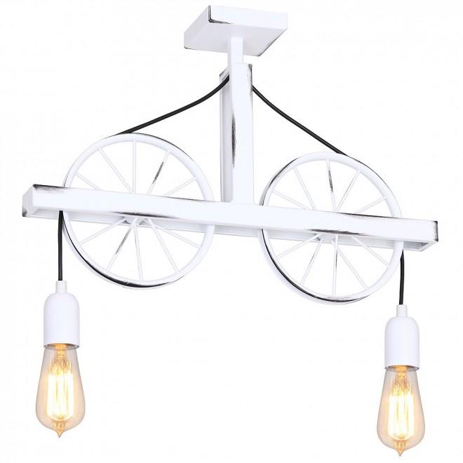 ALDEX 844H   Bang-Min Aldex stropne svjetiljke svjetiljka 2x E27 antik bijela, crno
