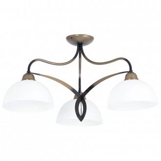 ALDEX 848E | Cera Aldex stropne svjetiljke svjetiljka 3x E27 antik brončano, bijelo