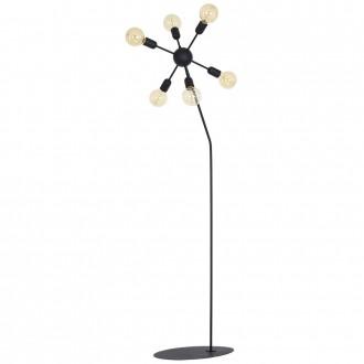ALDEX 857A | EkoA Aldex podna svjetiljka 170cm s prekidačem 6x E27 crno
