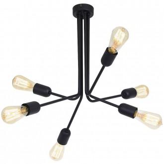 ALDEX 857K1 | EkoA Aldex stropne svjetiljke svjetiljka 6x E27 crno