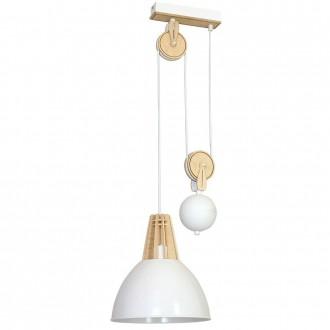ALDEX 873G/D | Fasan-Fumus-Zorro Aldex visilice svjetiljka balansna - ravnotežna, sa visinskim podešavanjem 1x E27 bijelo, drvo