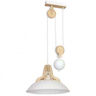 ALDEX 874G/D | Fasan-Fumus-Zorro Aldex visilice svjetiljka balansna - ravnotežna, sa visinskim podešavanjem 1x E27 bijelo, drvo