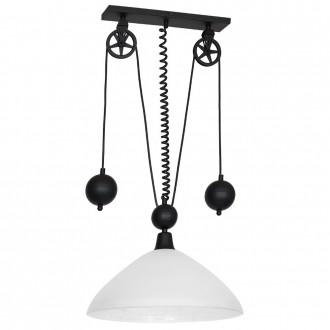 ALDEX 901G2 | Danton-I Aldex visilice svjetiljka balansna - ravnotežna, sa visinskim podešavanjem 1x E27 crno, bijelo