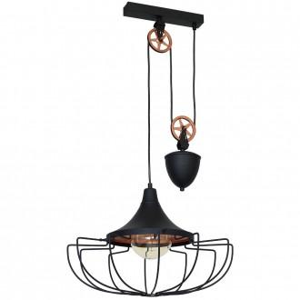 ALDEX 902G1/L | Danton-II Aldex visilice svjetiljka balansna - ravnotežna, sa visinskim podešavanjem 1x E27 crno, bronca