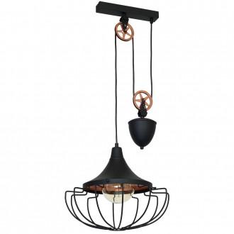 ALDEX 902G1/M | Danton-II Aldex visilice svjetiljka balansna - ravnotežna, sa visinskim podešavanjem 1x E27 crno, bronca