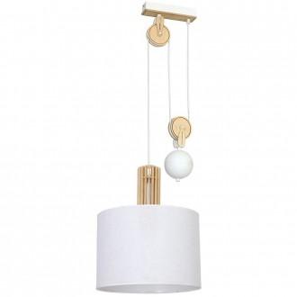 ALDEX 903G/D | Castro Aldex visilice svjetiljka balansna - ravnotežna, sa visinskim podešavanjem 1x E27 bijelo, drvo