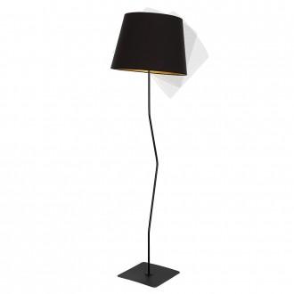ALDEX 920A1 | Marylin Aldex podna svjetiljka 163cm s prekidačem 1x E27 crno, zlatno