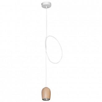 ALDEX 934G | Alf Aldex visilice svjetiljka 1x GU10 bijelo, drvo
