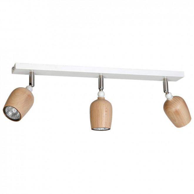 ALDEX 934PL/E | Alf Aldex spot svjetiljka elementi koji se mogu okretati 3x GU10 bijelo, drvo
