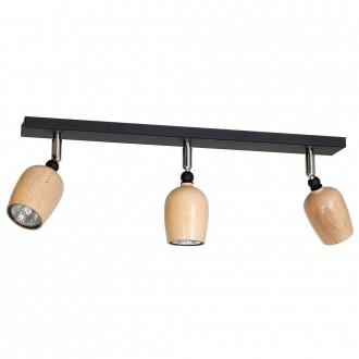 ALDEX 934PL/E1 | Alf Aldex spot svjetiljka elementi koji se mogu okretati 3x GU10 crno, drvo