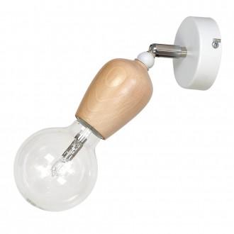 ALDEX 935C | Alf Aldex spot svjetiljka elementi koji se mogu okretati 1x E27 bijelo, drvo