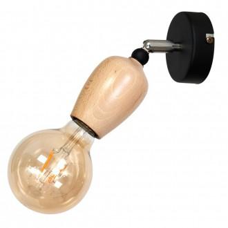 ALDEX 935C1 | Alf Aldex spot svjetiljka elementi koji se mogu okretati 1x E27 crno, drvo