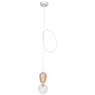ALDEX 935G | Alf Aldex visilice svjetiljka 1x E27 bijelo, drvo