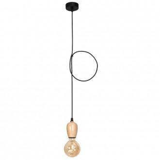 ALDEX 935G1 | Alf Aldex visilice svjetiljka 1x E27 crno, drvo