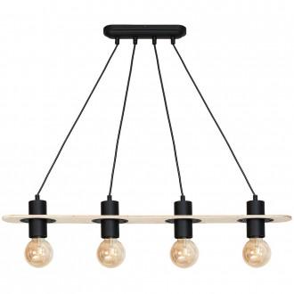 ALDEX 940L | Alba-I Aldex visilice svjetiljka 4x E27 crno, bezbojno
