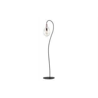 ALDEX 960A | Allegra Aldex podna svjetiljka 161cm s prekidačem 1x E27 crno, crveni bakar